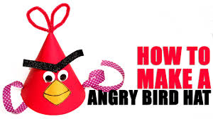 angry bird hat learn art and craft diy angry bird hat kids