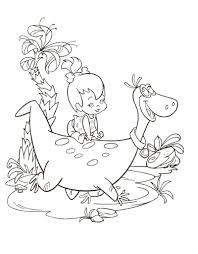 flintstones coloring page colouring pages pinterest