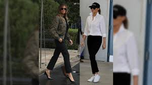 Multiple Choice Questions For Fashion Melania Trump U0027s On Trend With Hurricane Visit Changes