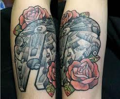 star wars millennium falcon tattoo isaac wiseman ink chill