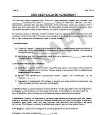 create an end user license agreement eula legal templates