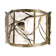 Meyda Tiffany Wall Sconce Sconce Rustic Pine Cone Wall Sconce Pine Cone Candle Wall