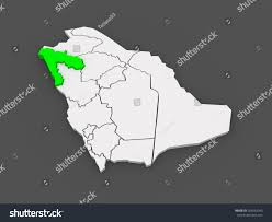 map of tabuk map tabuk saudi arabia 3d stock illustration 205062043
