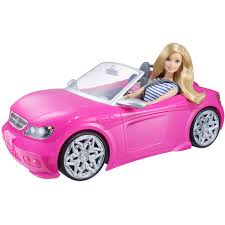barbie glam convertible pink walmart
