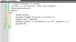 30 Feet In Meter by C Programming Tutorial 14 Distance Conversion Program Youtube