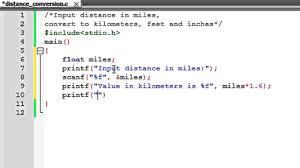 c programming tutorial 14 distance conversion program youtube