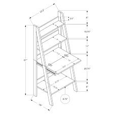 Ladder Style Computer Desk by Monarch Computer Desk 61