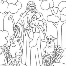 jesus and sheep coloring page sketch coloring page coloring page