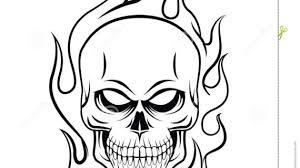 skull on drawing skull stock vector image 47882645