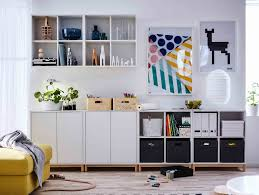 Modular Cabinets Living Room Eket Collection Ikea