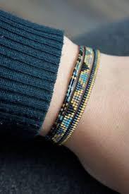 Handmade Seed Beaded Gold Plated Miyuki Beaded Bracelet Handmade Gold Plated By Yrsarmcandy