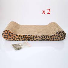 Cat Scratchers Cardboard 2pcs Corrugated Cardboard Cat Scratching Bed Pad Scratcher Toy