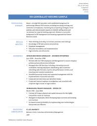 Winning Resume Templates Hr Generalist Resume Best Human Resource Generalist Resume