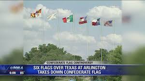Giant Confederate Flag Six Flags Removes Confederate Flags Youtube