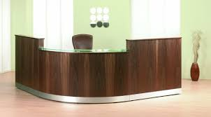 Rounded Reception Desk Cirrus Walnut Curved Reception Desk Harmonyoffice Co Uk