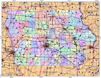 iowa map with cities editable iowa map with cities roads areas illustrator