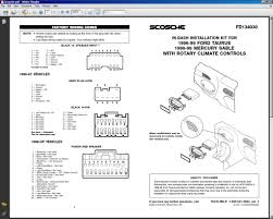 2003 ford taurus part number of the 20 pin stereo wiring