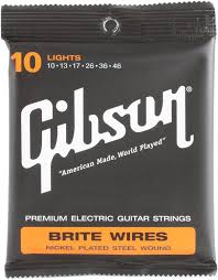 gibson accessories 700l brite wires electric strings 010 046