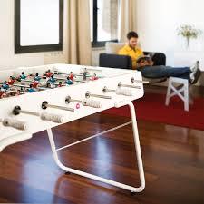 outdoor foosball table in white thos baker