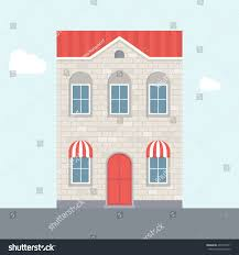 vector illustration house twostorey house brick stock vector
