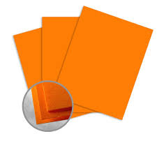 cosmic orange card stock 8 1 2 x 11 in 65 lb cover smooth