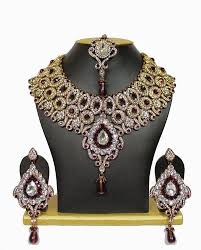 stone necklace set designs images Stone necklace set at rs 2250 piece s bridal jewellery sewad jpg