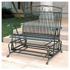 white outdoor glider bench target