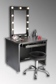 Mirrored Makeup Vanity Table Small Black Modern Makeup Vanity Table With Lights Around Mirror