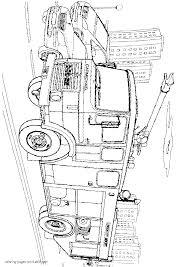 coloring pages dodge fire truck