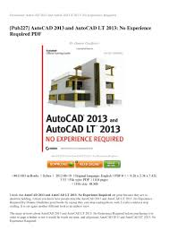 review autocad 2013 and autocad lt 2013 no experience required pdf 30 u2026