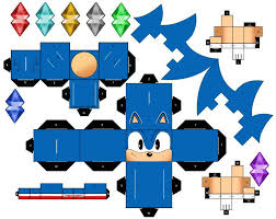 Sonic The Hedgehog Papercraft - classic sonic the hedgehog by mikeyplater on deviantart a pair