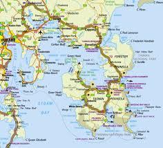 map of tasmania australia tasman peninsula tasmania australia
