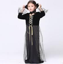 Girls Vampire Costume Halloween Aliexpress Buy Black Vampire Costume Girls Halloween