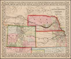 Kansas Map Map Of Kansas Nebraska And Colorado Showing Also The Southern
