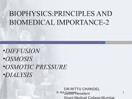 biophysics diffusion osmosis osmotic pressure dialysis