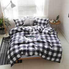 Black And White Bed Sheets Online Get Cheap White Duvet Cover Sets Aliexpress Com Alibaba
