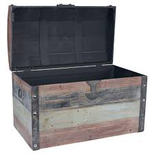 large weathered wooden storage trunkwooden chests and trunks uk