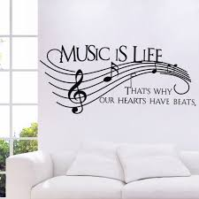 music is life wall quote stickers decals bedroom wall stickers music is life wall quote stickers decals