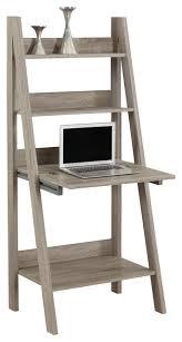 Shelf Computer Desk Ladder Style Computer Desk Transitional Desks And Hutches By