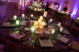Photo Cubes Centerpieces by Arrangements Of Clear Vases Of Various Heights Filled With