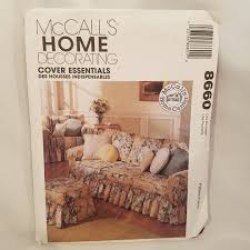 sewing patterns home decor mccalls home decorating 8660 sewing pattern home decor sofa