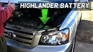 toyota highlander hybrid 2005 toyota highlander battery removal replacement