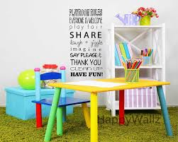 Cheap Nursery Wall Decals by Online Get Cheap Playroom Rules Wall Decal Aliexpress Com