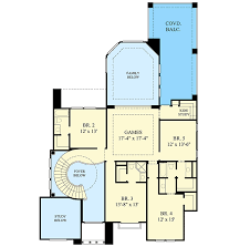 spiral staircase floor plan luxury house plan with central spiral stair 67074gl
