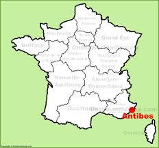 map of antibes antibes location on the map