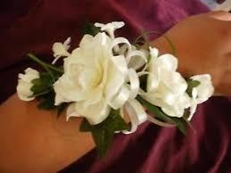 White Wrist Corsage Wedding Gardenia Stephanotis White Ivory Wrist Corsage Ebay