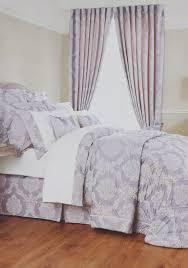 buy christy romeo brocade print bedspread lavender grey