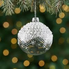 snowflake ornaments crate and barrel