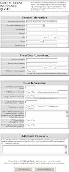 event insurance special event insurance quote form