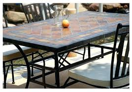 Mosaic Dining Room Table Home Design Alluring Slate Patio Table 60 Round 78 94 Outdoor